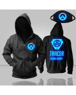 Overwatch Tracer Luminous Pullover Hoodie