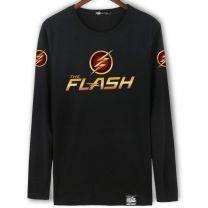 DC The Flash Long Sleeve Black Shirt