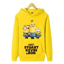 Despicable Me Stuart Kevin Bob Pullover Hoodie