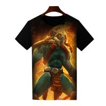 Dota 2 Huskar Printed T-Shirt Short Sleeve Shirt