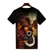 Dota 2 Juggernaut Printed T-Shirt Short Sleeve Shirt