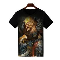 Dota 2 Monkey King Printed T-Shirt Short Sleeve Shirt