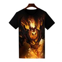Dota 2 Shadow Fiend Printed T-Shirt Short Sleeve Shirt