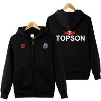 DOTA 2 Team OG Jacket Full Zip Hoodie Black Pullover Sweatshirt