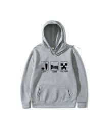 Eat Sleep Play Minecraft Pullover Hoodies Sweatshirt