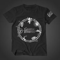 Game of Thrones Seven House Printed T-Shirt