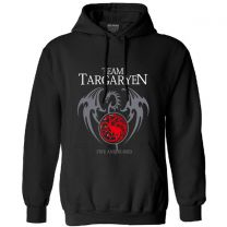 Game of Thrones Team targaryen Printed Hoodie Hooded Sweatshirt