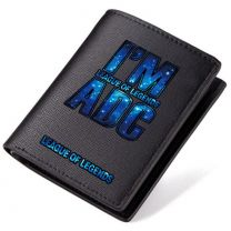 League of Legend I'am ADC PU Leather Bifold Wallet