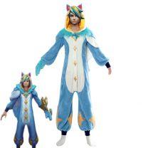 League of Legends Ezreal Pajama Star Guardian LOL Ezreal Jumpsuits Sleepwear