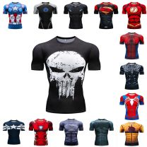 Marvel America Captain Civil War compression t shirt men 3D printing T-Shirts