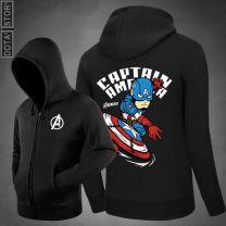 Marvel Captain America Pullover Hoodie Sweatshirt