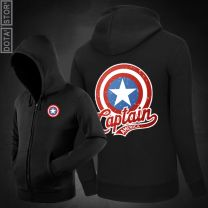 Marvel Captain America Zipper Hoodie Sweatshirt