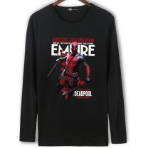 Marvel Deadpool Long Sleeve Black Shirt