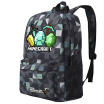 Minecraft Canvas Backpack School Bag Student Bag