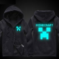 Minecraft Creeper Zip-Up Luminous Hoodie