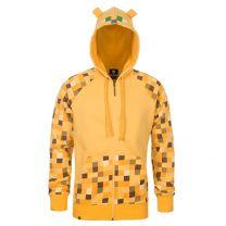 Minecraft Yellow Ocelot Kids Zipper Hoodie