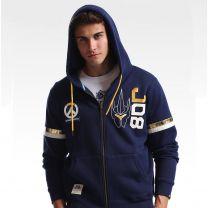 Overwatch Reinhardt Design Premium Blue Hoodie