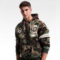 Overwatch Soldier 76 Design Army Green Hoodie