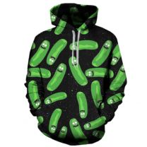 Rick and Morty Pickle Pullover Hoodie