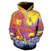 Rick and Morty 3D Printed Pullover Hoodie