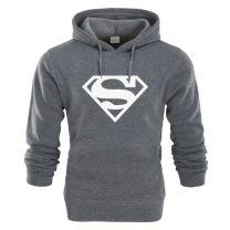 Superman Printed Pullover Hoodie Sweatshirt
