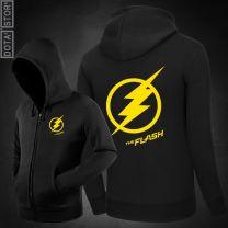 The Flash Man Zipper Pullover Hoodie Sweatshirt
