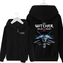 The Witcher 3 Wild Hunt Black Zipper Hoodie