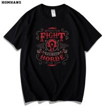 World of Warcraft for the Horde Alliance T-shirt Men Tee Shirt