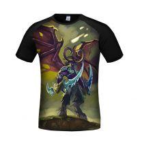 World of Warcraft Illidan Stormrage 3D Printed T-Shirt