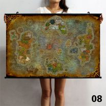 World of Warcraft Map Poster