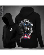 Captain America Hoodie Marvel Men's Sweatshirt