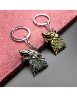 Game Of Thrones House Stark Wolf Head Key Ring