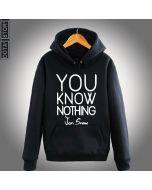 Game of Thrones You Know Nothing Printed Hoodie Sweatshirt