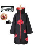 Naruto Akatsuki Cloak Cape Cosplay Costume