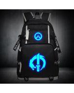 Overwatch Genji Luminous Backpack USB Charger Bag