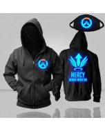 Overwatch Mercy Luminous Pullover Hoodie