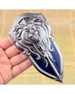 WOW Lion King Head Metal Shield Action Figure Keychain
