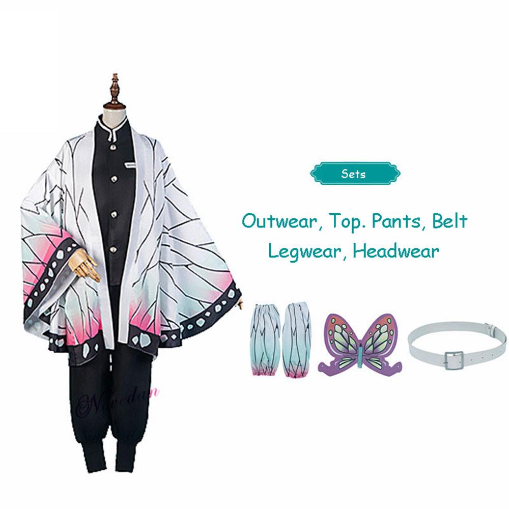 Demon Slayer Kochou Shinobu Cosplay Costume Cloak Cape