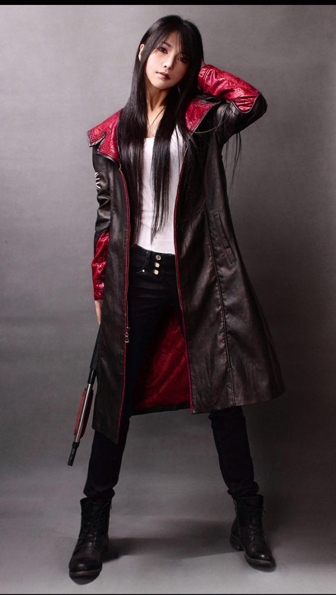 Devil May Cry Dante Leather Jacket Long Windbreaker