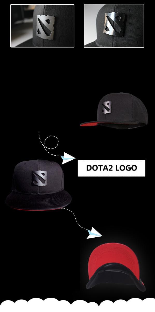 Dota 2 Metal Logo Cap Black Hat