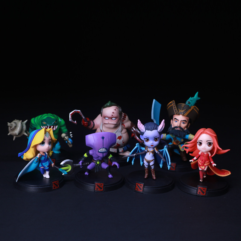 Dota 2 Pudge Crystal Maiden Faceless Void PVC Action Figure Toy