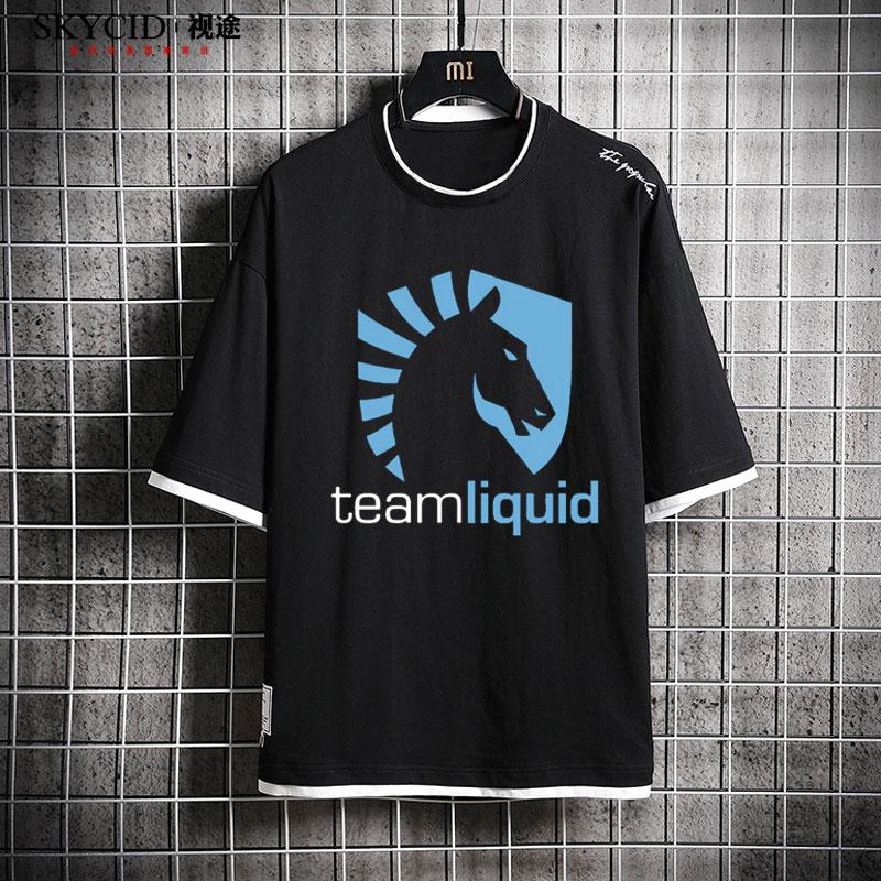 Dota 2 Team Liquid Short Sleeve T-shirt Cotton Tee Top