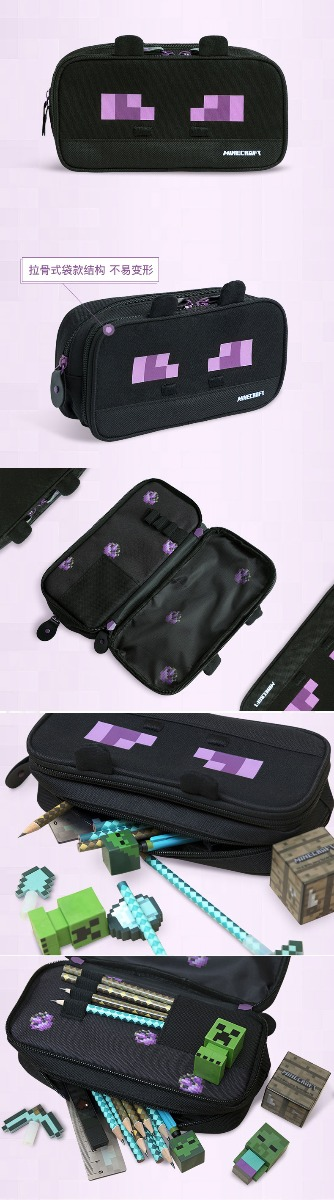 Minecraft Enderman Pencil Case Canvas School Supplies