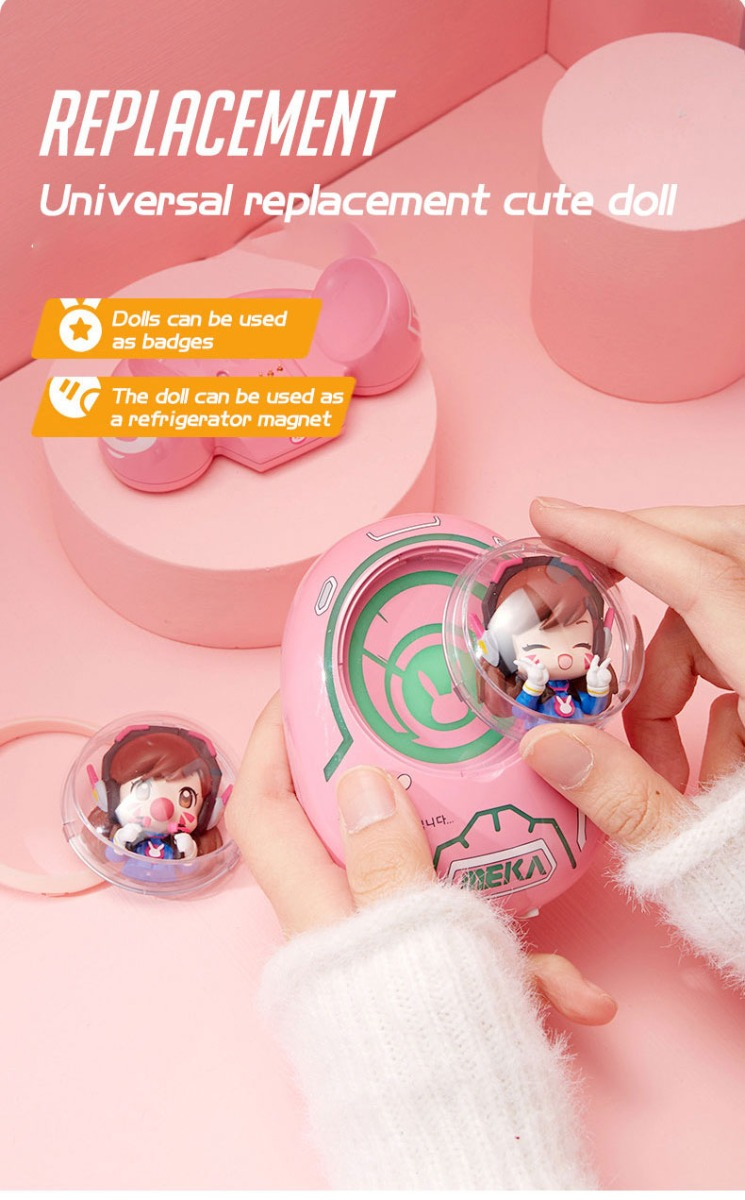 Overwatch D.va Space Capsule Portable Mobile Power Bank