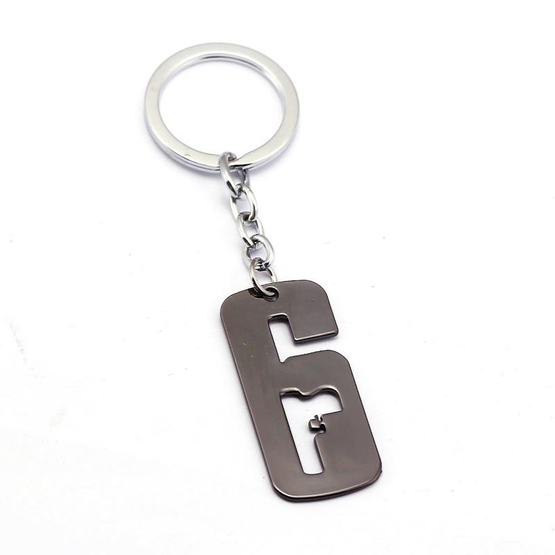 Tom Clancy's Rainbow Six Logo Keychain Key Ring