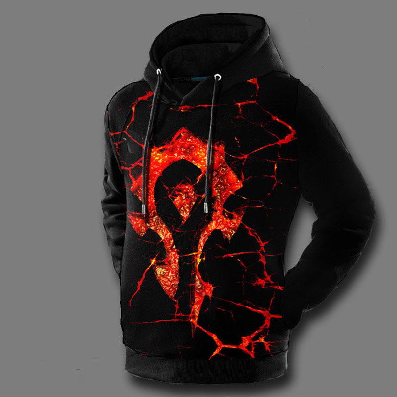 World of Warcraft For The Horde Pullover Fleece Hooded Sweatshirt